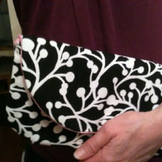 Black and White  clutch is a nice size when you want to avoid the big purse.