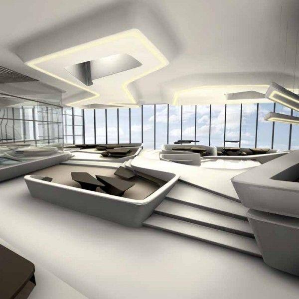 Office Garage By Ultra Architects: Ultra Modern Penthouse Design