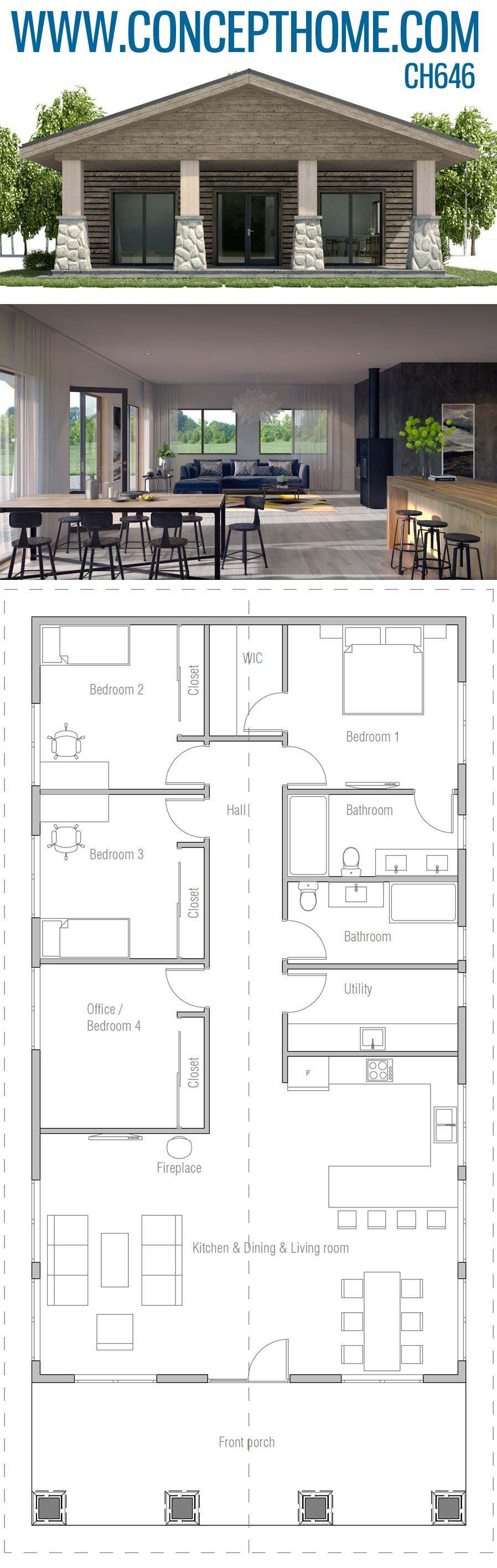Architectural Design Ch646 Architecture Design Bungalow House Design House Plans
