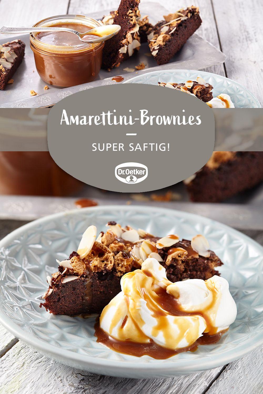 Amarettini Brownies Rezept Kochen Und Backen Brownie Rezept Amarettini