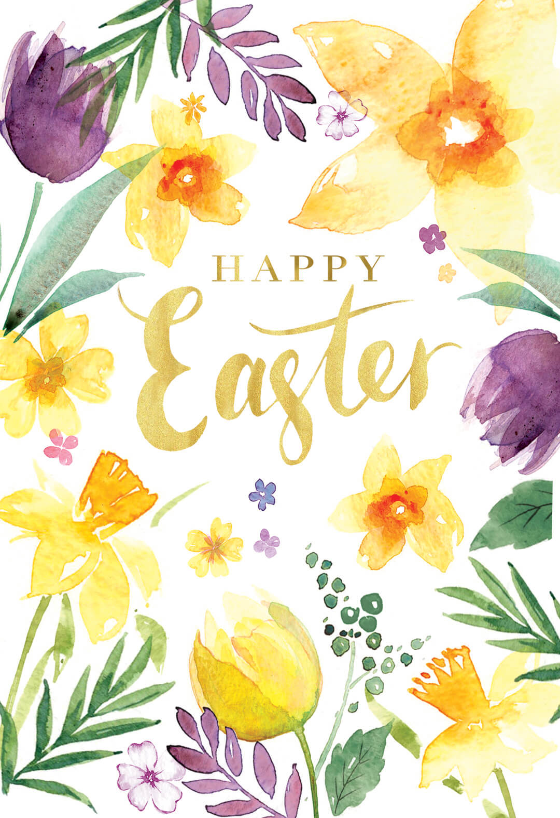 Spring Beauties Easter Card Greetings Island Easter Cards Printable Happy Easter Card Happy Easter Printable