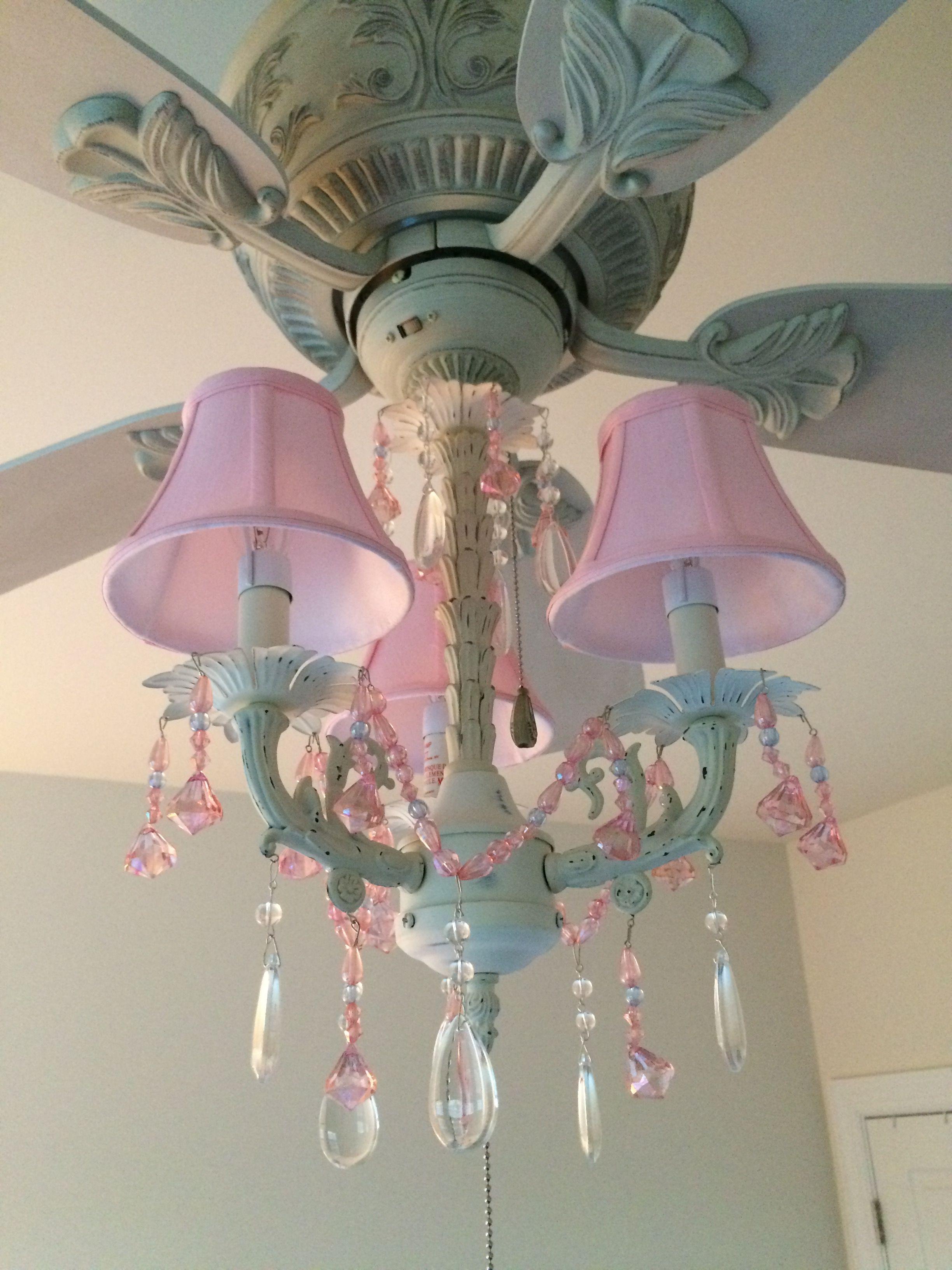 Pink Chandelier Ceiling Fan And Light Kit Fandelier Perfect