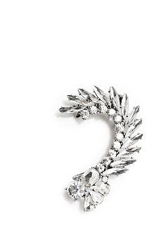 Crystal-embellished ear cuff