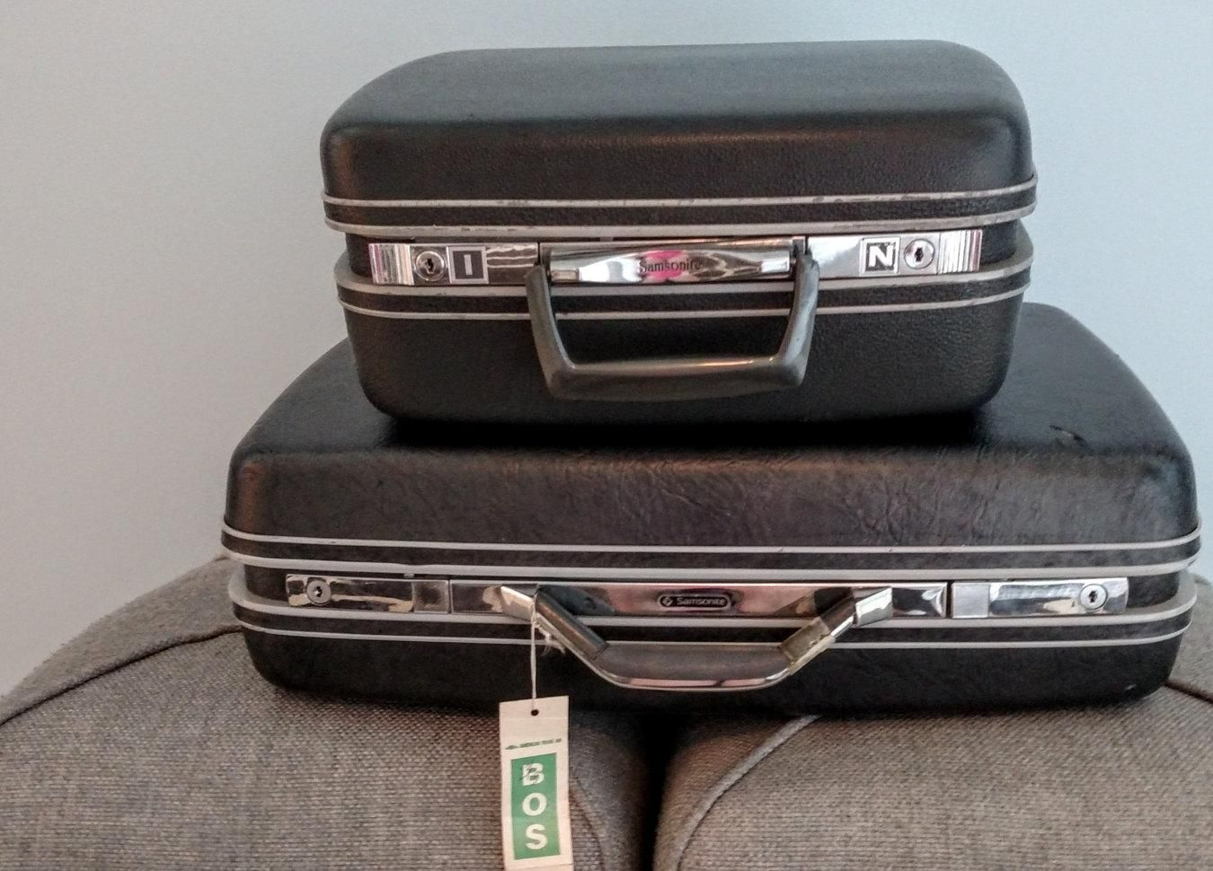 Luggage Set, Samsonite Lighweight Suitcases, Glamping, Vintage Camping Gear, Travel, Home Decor - http://oleantravel.com/luggage-set-samsonite-lighweight-suitcases-glamping-vintage-camping-gear-travel-home-decor