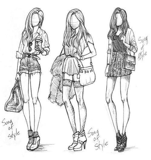 Resultado De Imagem Para Desenho De Moda Feminina Para Colorir