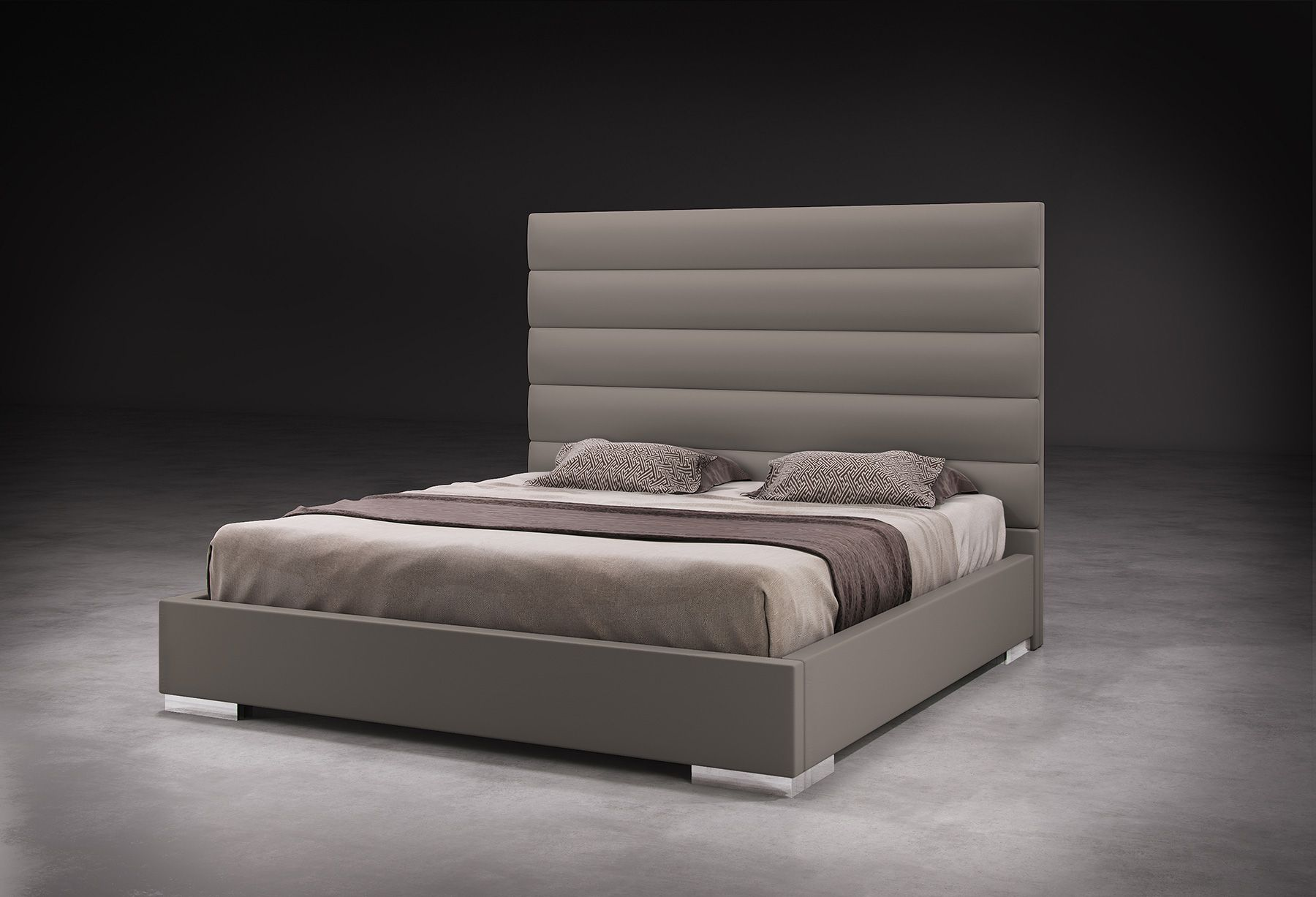 prince queen bed healthy sleep latex mattress and tufted headboards