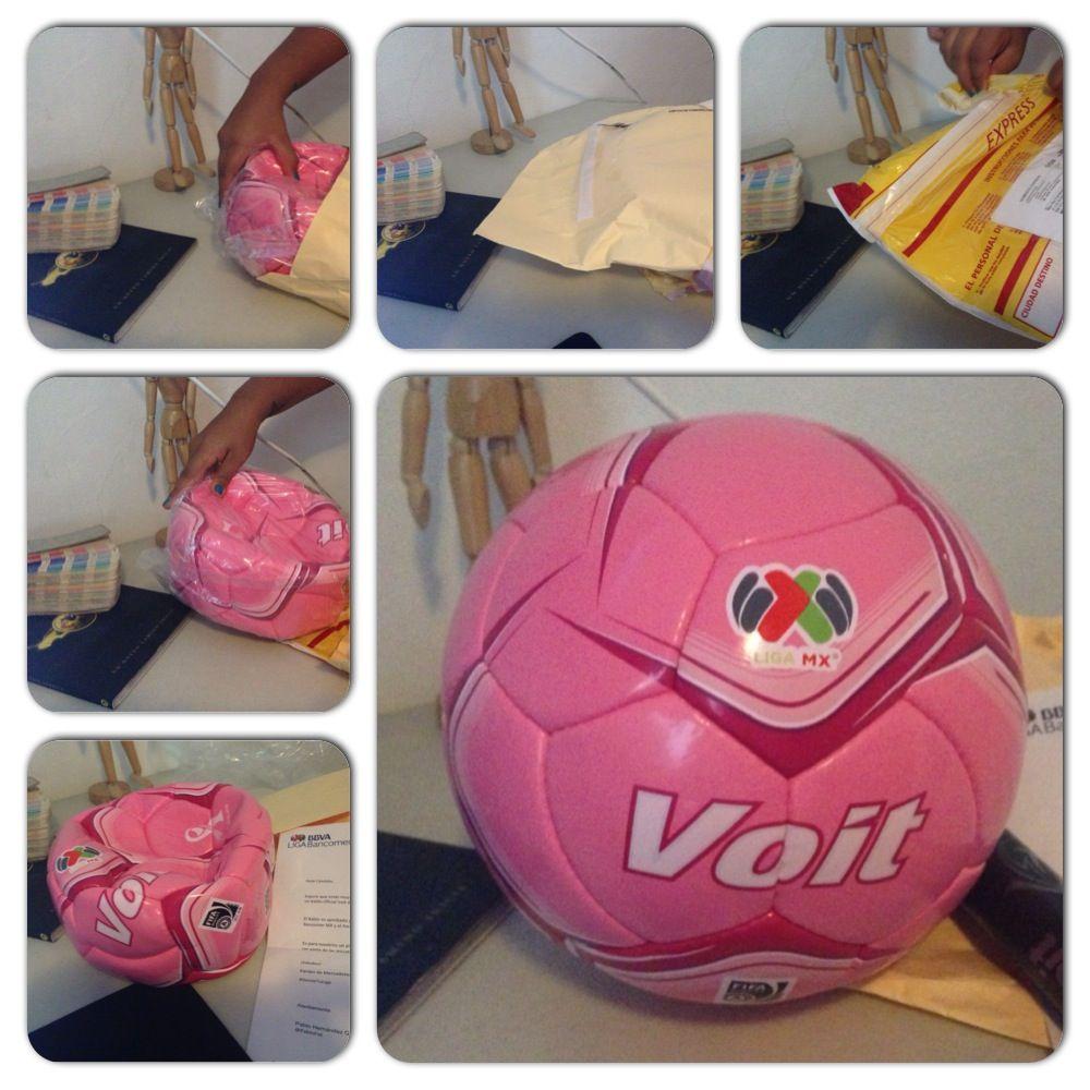 ¡Al fin nos llego nuestro regalo! #BalónRosa #Voit ¡Gracias @Liga Bancomer MX!