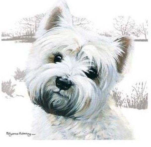 Pollyanna Pickering Westie Puppies Dog Art Westies