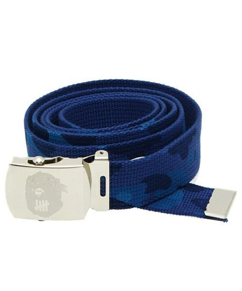 3e0c788a04ab BAPE x UNDEFEATED Adjustable Camo Belt 100% Cotton Stainless Steel Buckle