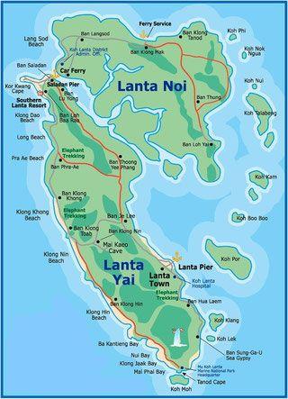 Koh Lanta Karte Ko Lanta Thailand Urlaub