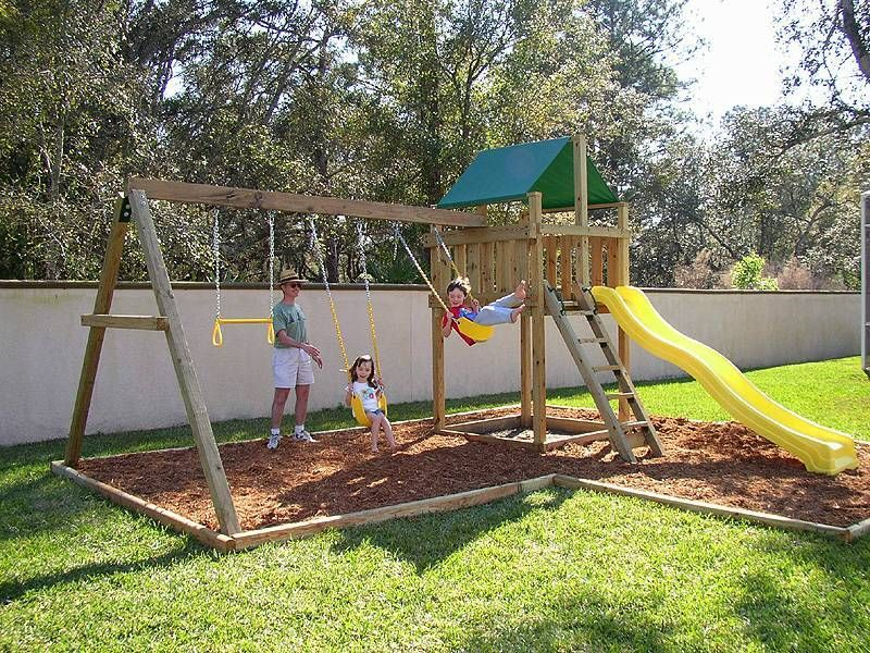 Spring is the perfect time to install a new backyard swing for Backyard playset plans
