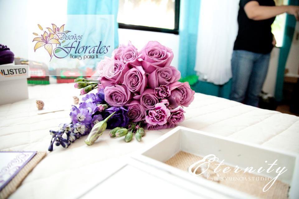 Bouquet morado!