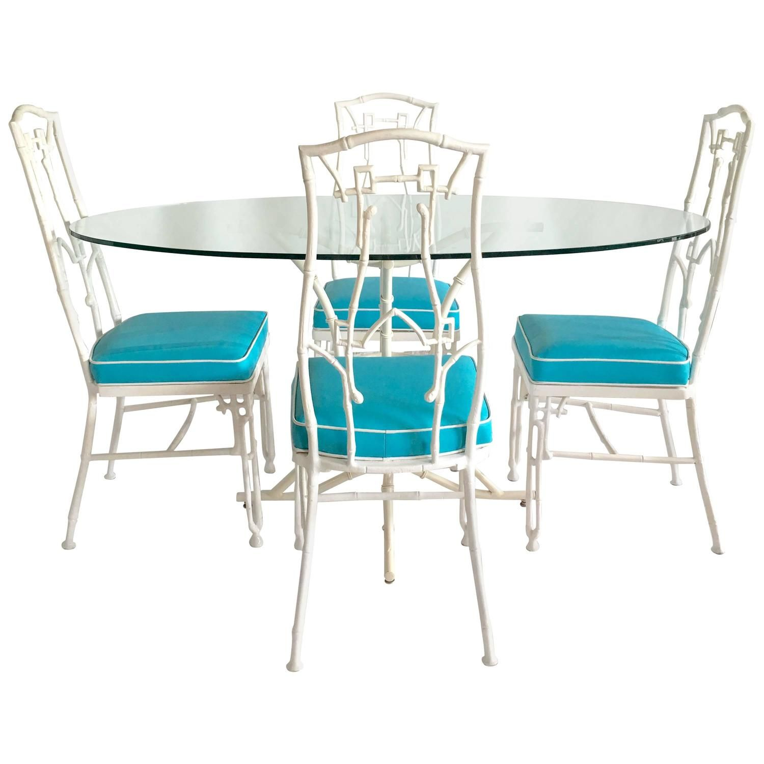View This Item And Discover Similar Patio And Garden Furniture For Sale At    Hollywood Regency Six Piece Faux Bamboo Chairs And Table.