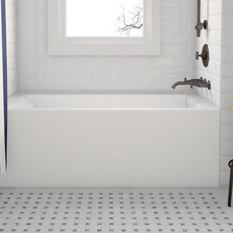 The Simplicity I Pure is an alcove bathtub, designed with an ...