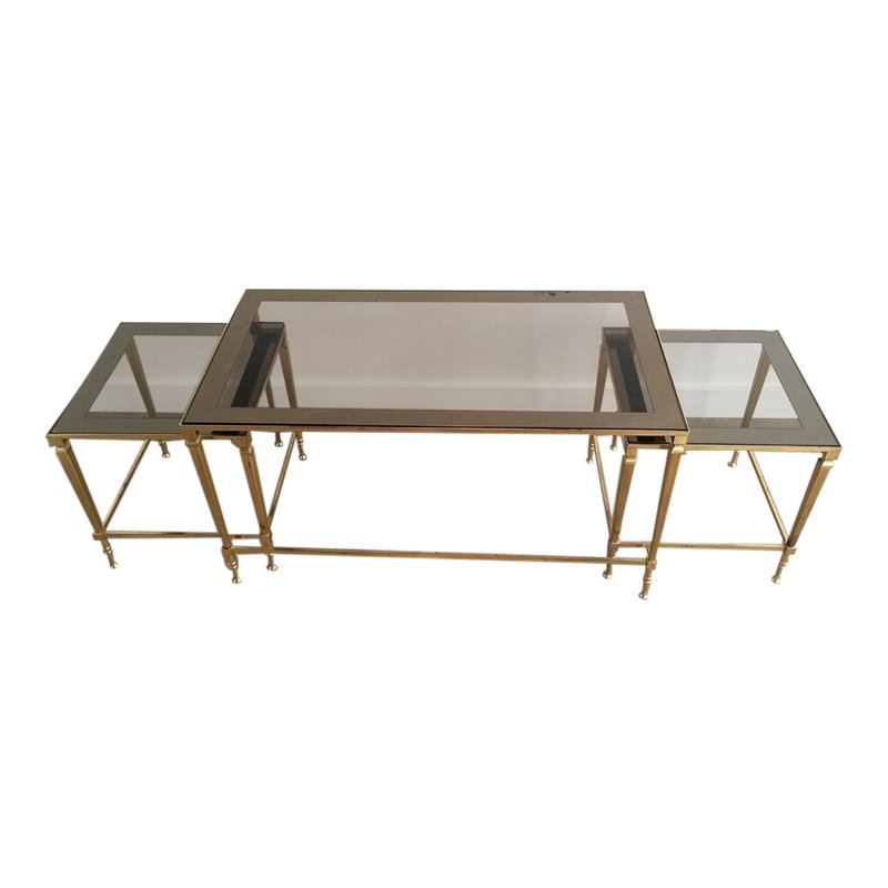 1940 S Nesting Coffee Table With Smoked Portrait Glass Table Nesting Tables Table Furniture