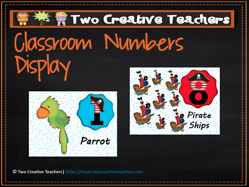 Numbers Counting Display Pirate Theme 2 --- This resource contains 10 A4 sized posters that aim to help students learn to count to and backwards from ten. There are so many different ways this r... #reachingteachers #counting #numbers