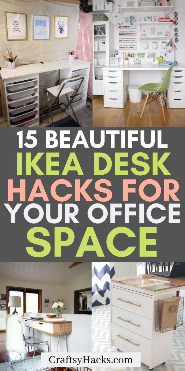 15 Super Clever IKEA Desk Hacks
