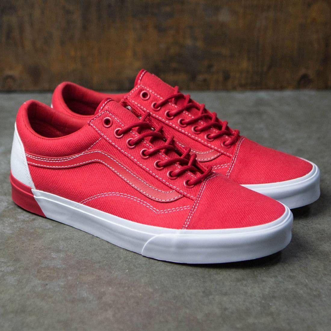 68a0cce556d  VansShoes Vans Men Old Skool DX - Blocked (red   white)