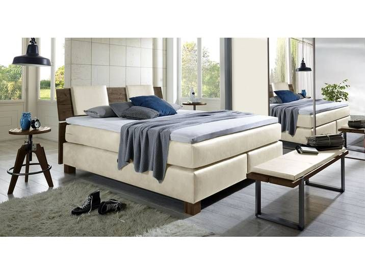 Photo of Luxury bed Avila – 160×200 cm – white – hardness H3 – box spring bed