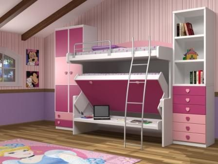 Literas cama mesa literas plegables en vertical camas - Camas literas plegables ...