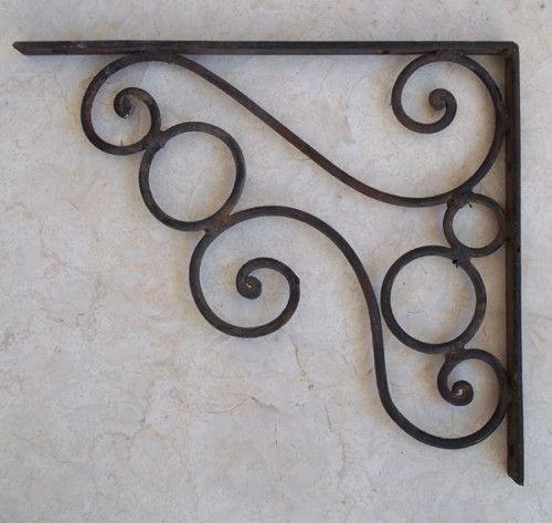 Rusty Classic Decor Wrought Iron Shelf Wall Bracket Wrought Iron Furniture Classic Decor Wrought Iron