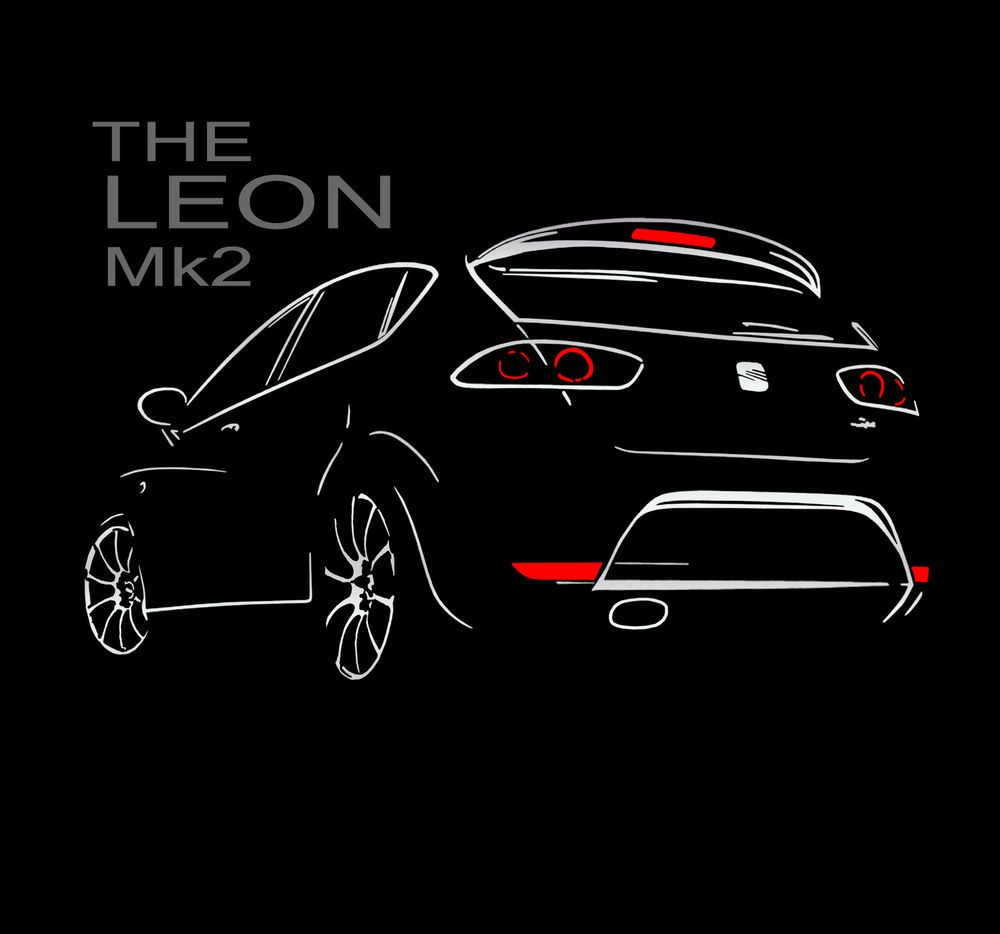 SEAT Leon Mk2 T SHIRT  Cupra Ibiza  Toledo T Shirt S - 5XL + Langarm
