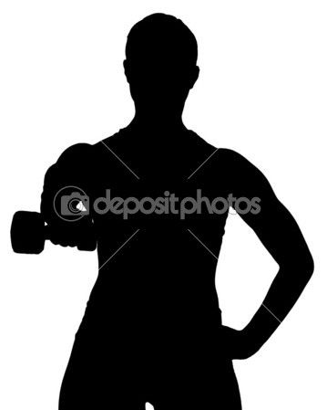 Female exercies with free weights — Stock Image #44850559