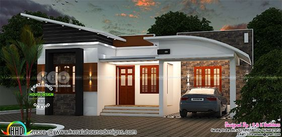 Low Cost Contemporary Home In Kerala Kerala Home Design Kerala House Design Contemporary House Kerala Houses