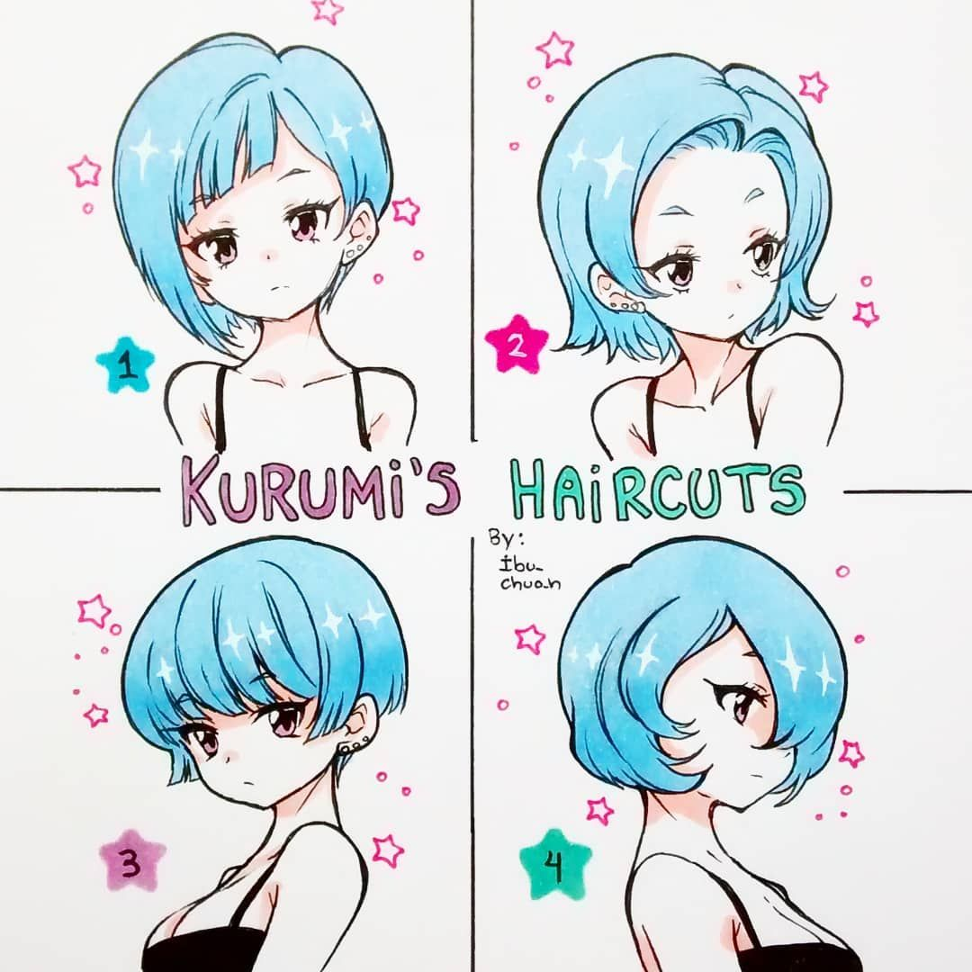 "Photo of ? Iboooo ???~ ? on Instagram: ""Kurumi's haircuts ??? Which one do you prefer? I choose number 2 and 3 ??"""