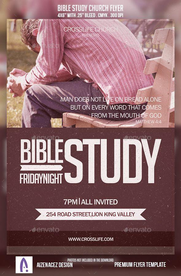 Bible Study Church Flyer Flyer template, Flyer size and Font logo - church flyer template