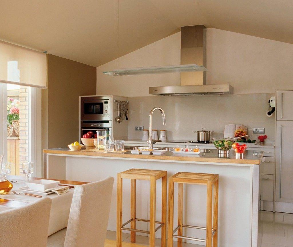 Moda decoraci n cocina comedor integrado casa for Cocina comedor integrados
