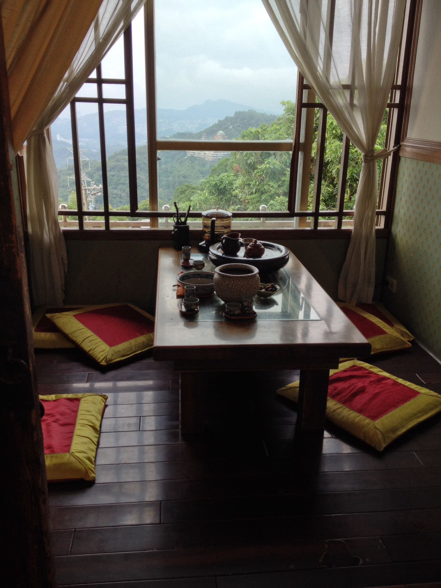 Tea house at Maokong Taipei, Taiwan Tea house, Taiwan