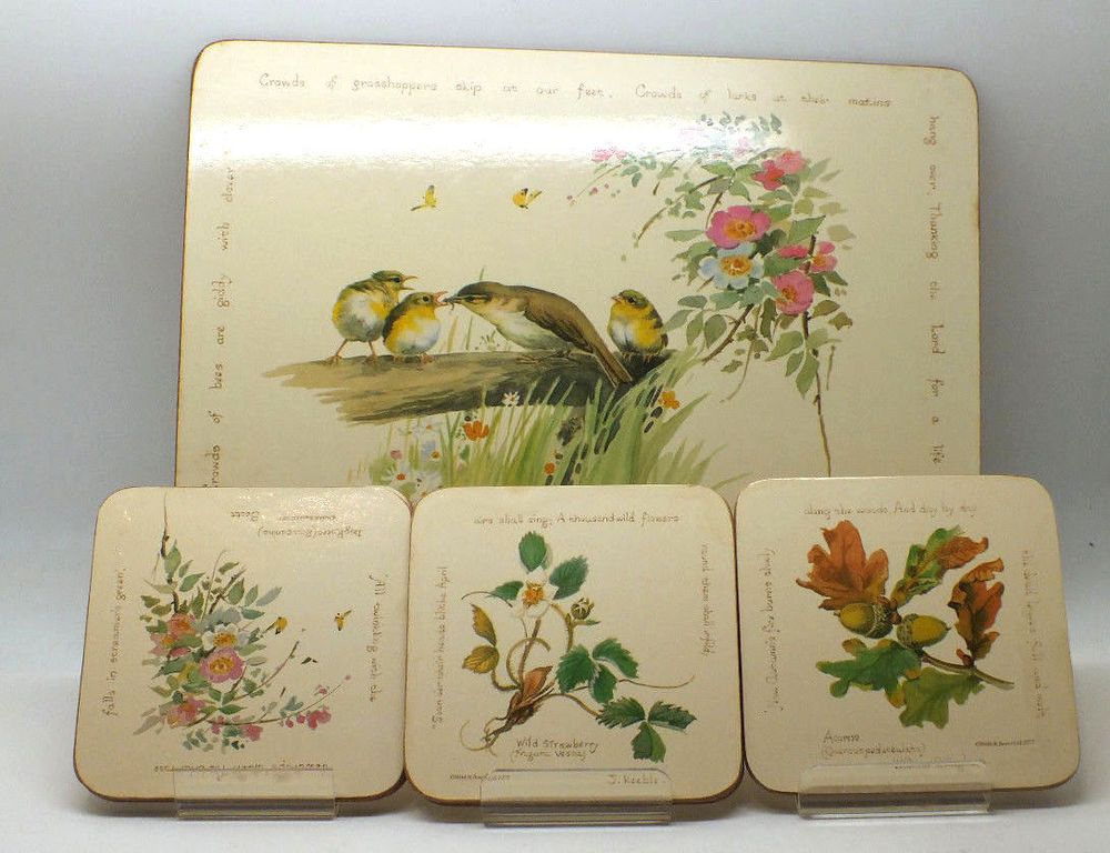 6 Cloverleaf Placemats Amp 6 Coasters Country Diary Collection Edwardian Lady