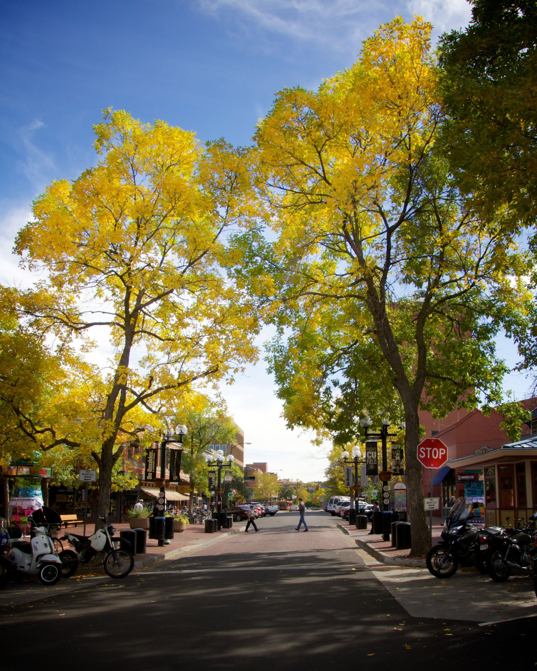 What a spectacular afternoon in Downtown Boulder!  Hope everyone can get out to enjoy the beautiful fall colors before the cold front moves in tomorrow!  #downtownboulder #boulder #fall #autumn