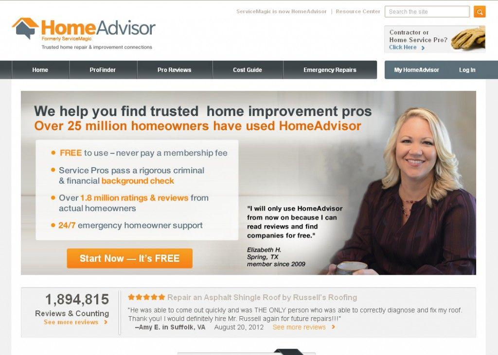 Home Advisor Your Home Improvement Connection Home Repair Improve Repair