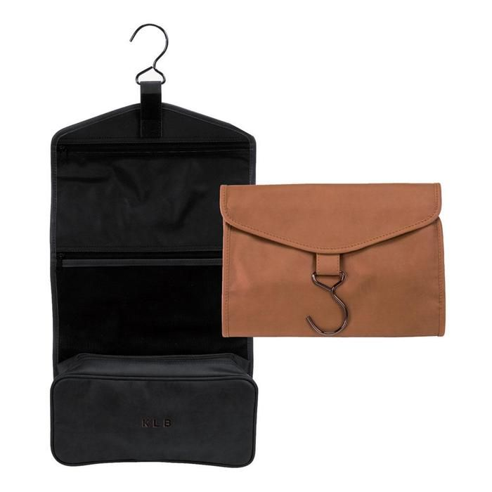 a6fcddc47a8 Clava Leather and Canvas Hanging Toiletry Kit at Brookstone—Buy Now ...