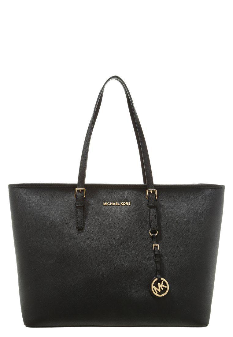 MICHAEL Michael Kors JET SET TRAVEL - Shopping bag - black - Zalando.no