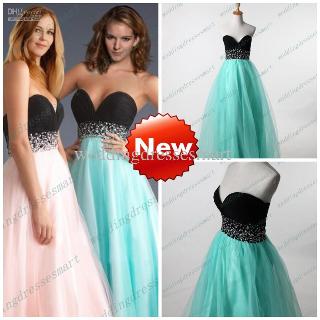 Wholesale Prom Dresses - Buy Chiffon And Tulle Sweetheart Black And ...