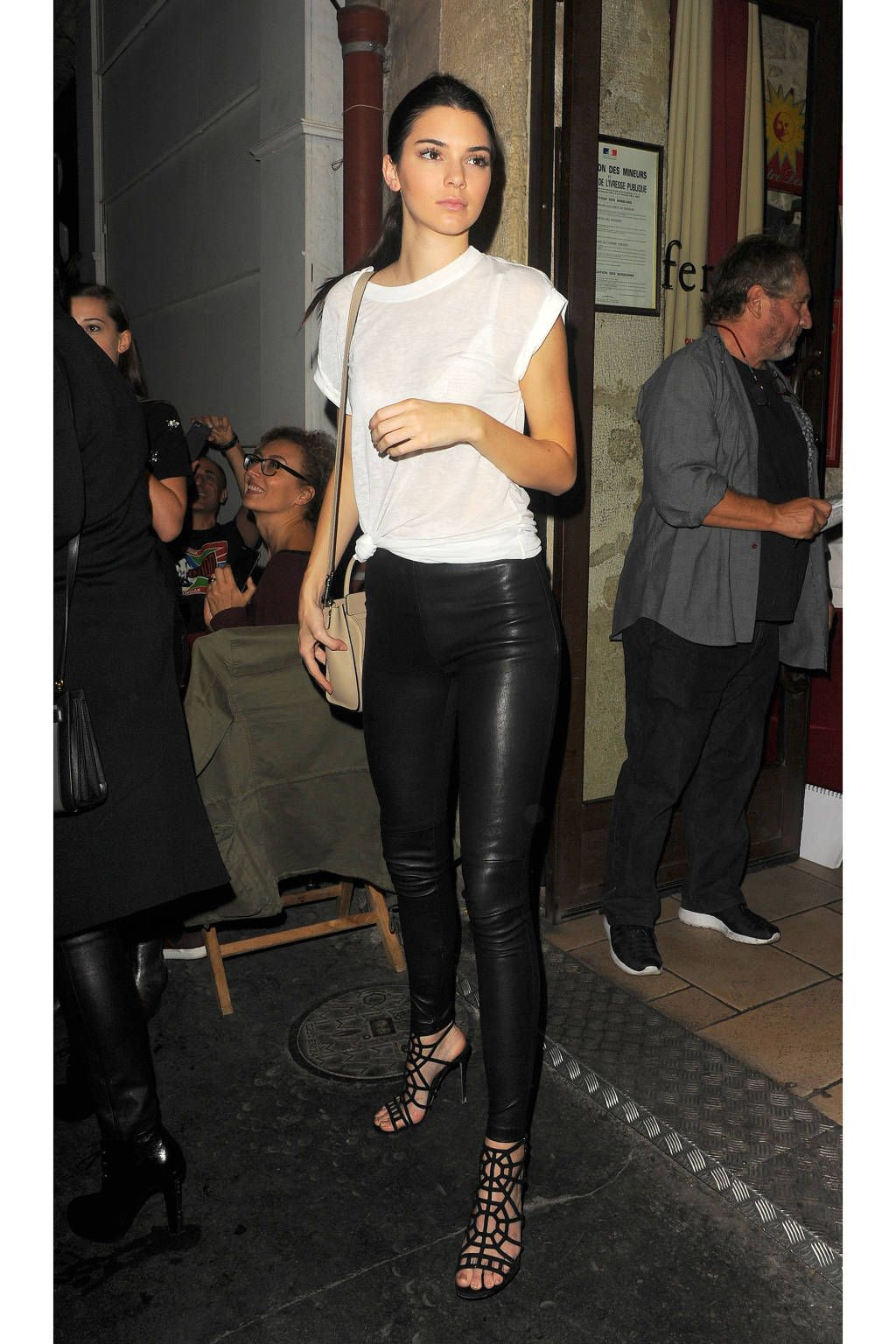 Get the look celeb leather skirts photo