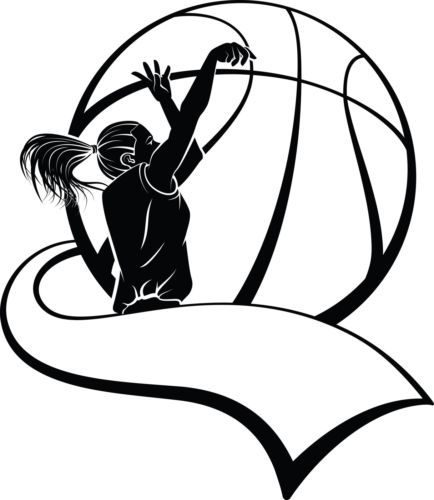 female basketball player silhouette wall art sticker present gift rh pinterest com Basketball Ref Clip Art Basketball Pass Clip Art