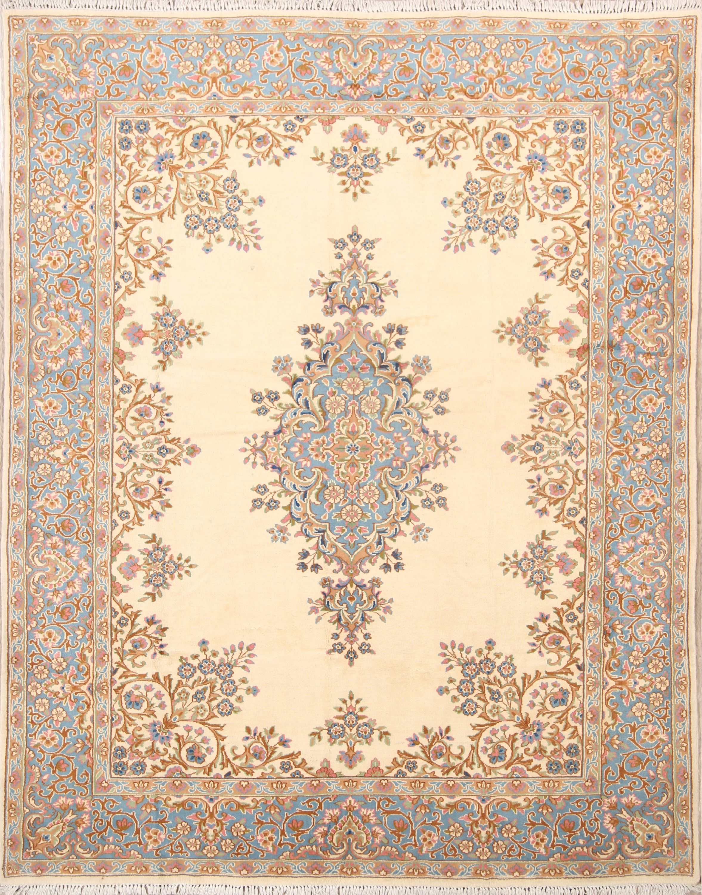 If You Love Calm And Bright Colors Paired With Fl Patterns Then This Kerman Persian Rug Is A Perfect Choice For