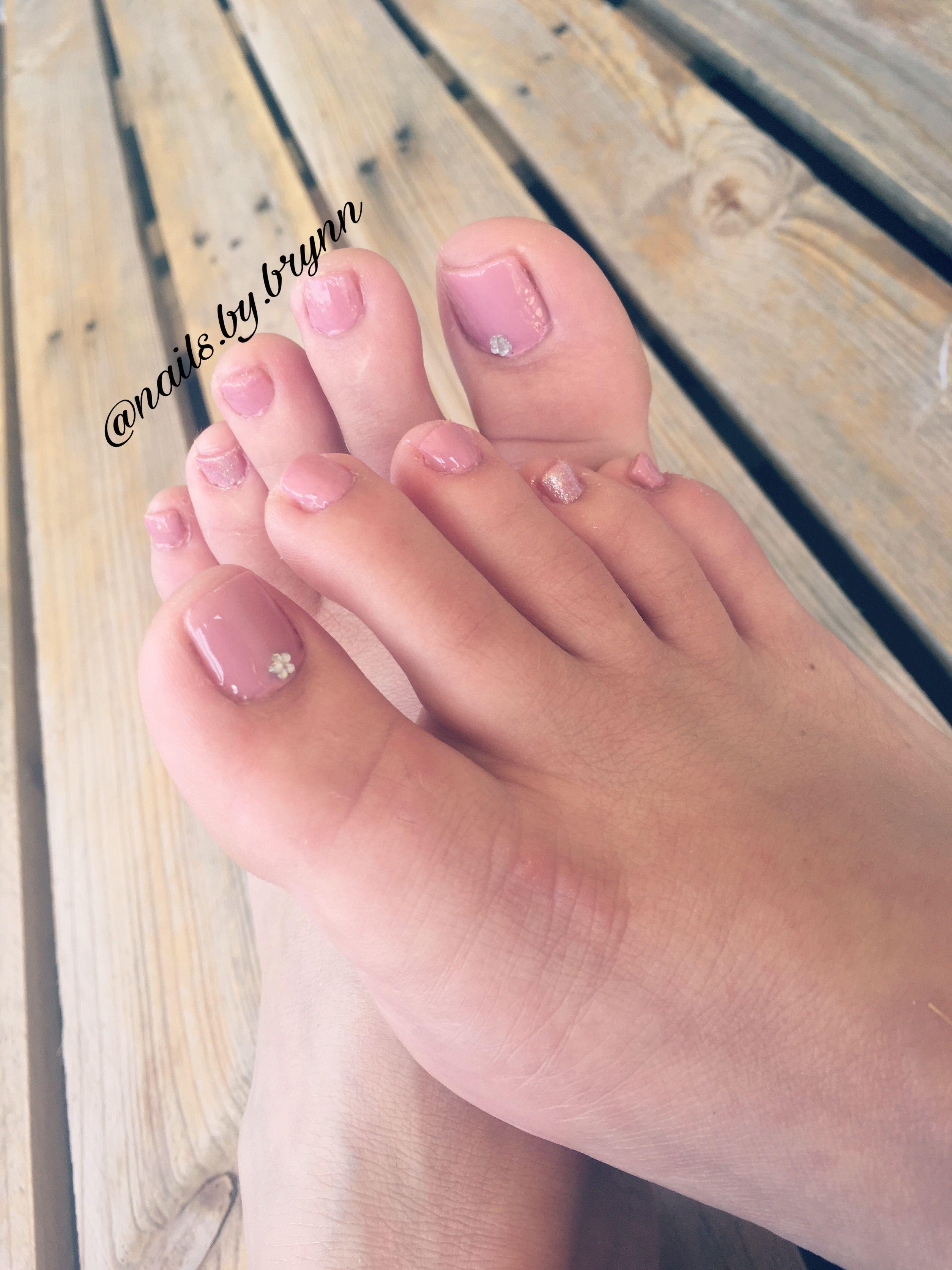 Light pink pedicure ignailsynn nails ideas pinterest