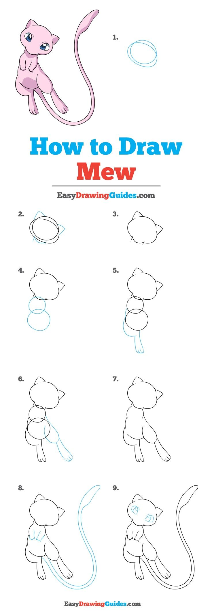 Photo of How to Draw Mew from Pokemon – Really Easy Drawing Tutorial