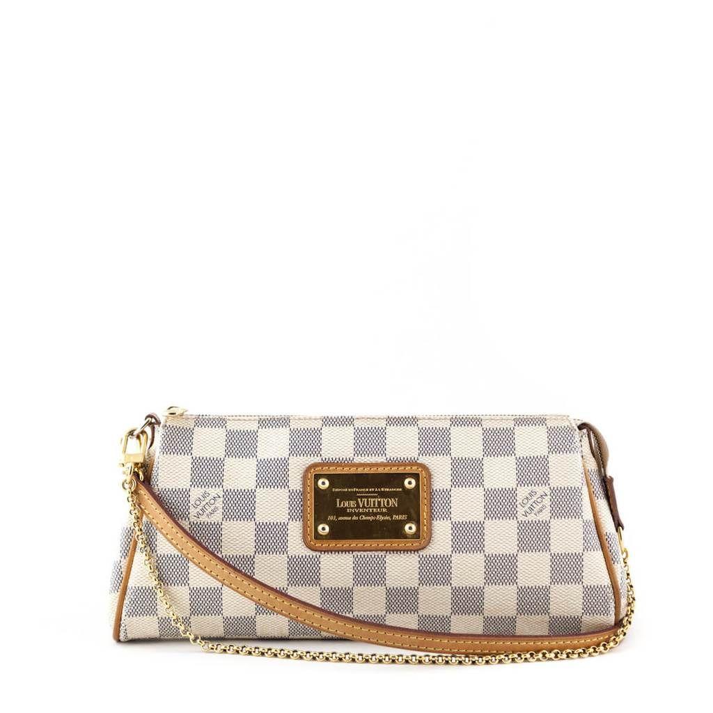 Louis Vuitton Damier Azur Eva Clutch Love That Bag Preowned