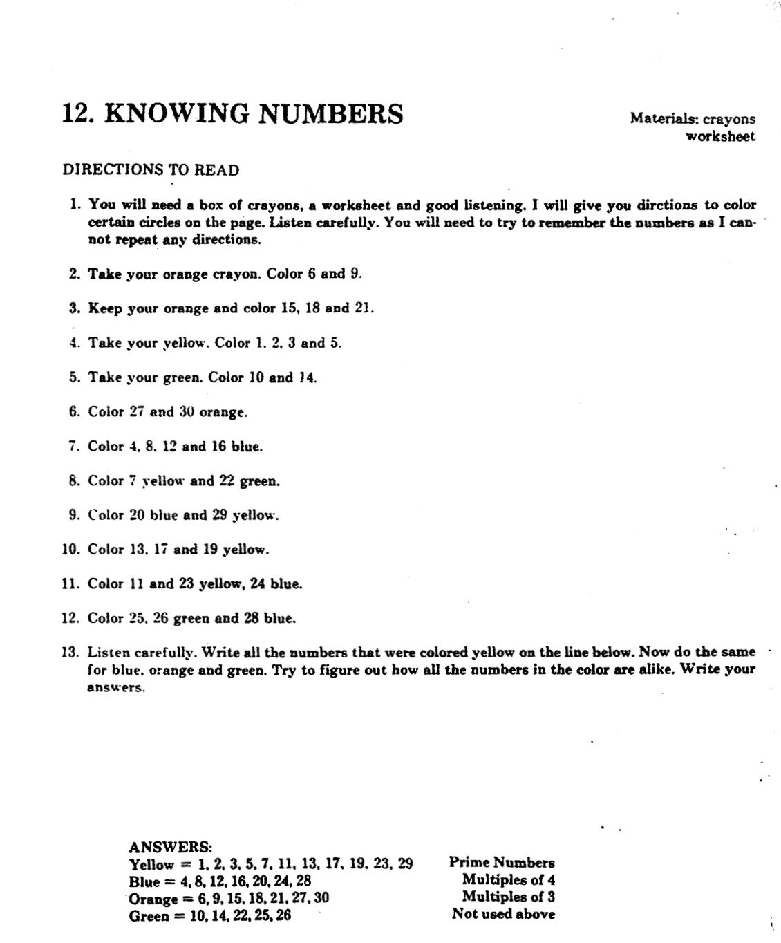 Knowing Numbers Listening Activity Instructions Page 1 Listening Skills Active Listening Try To Remember [ 1364 x 1130 Pixel ]