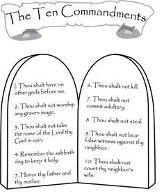graphic relating to 10 Commandments for Kids Printable called The 10 Commandments Printable Catholic Catholics Little ones