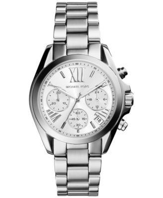 0c2fe9c5bc9a Michael Kors Women s Chronograph Mini Bradshaw Stainless Steel Bracelet  Watch 36mm MK6174