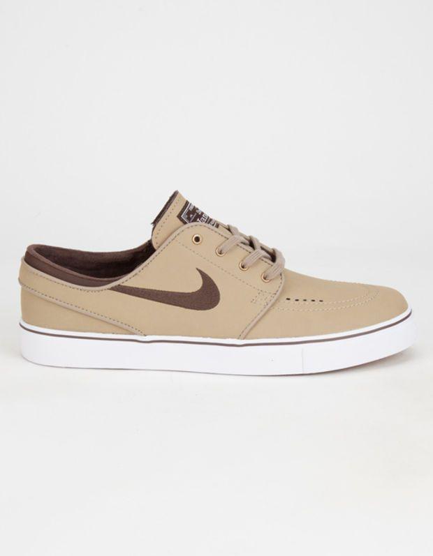 hot sale online 1f3f7 85585 Nike Sb Zoom Stefan Janoski Leather Mens Shoes Khaki In Sizes