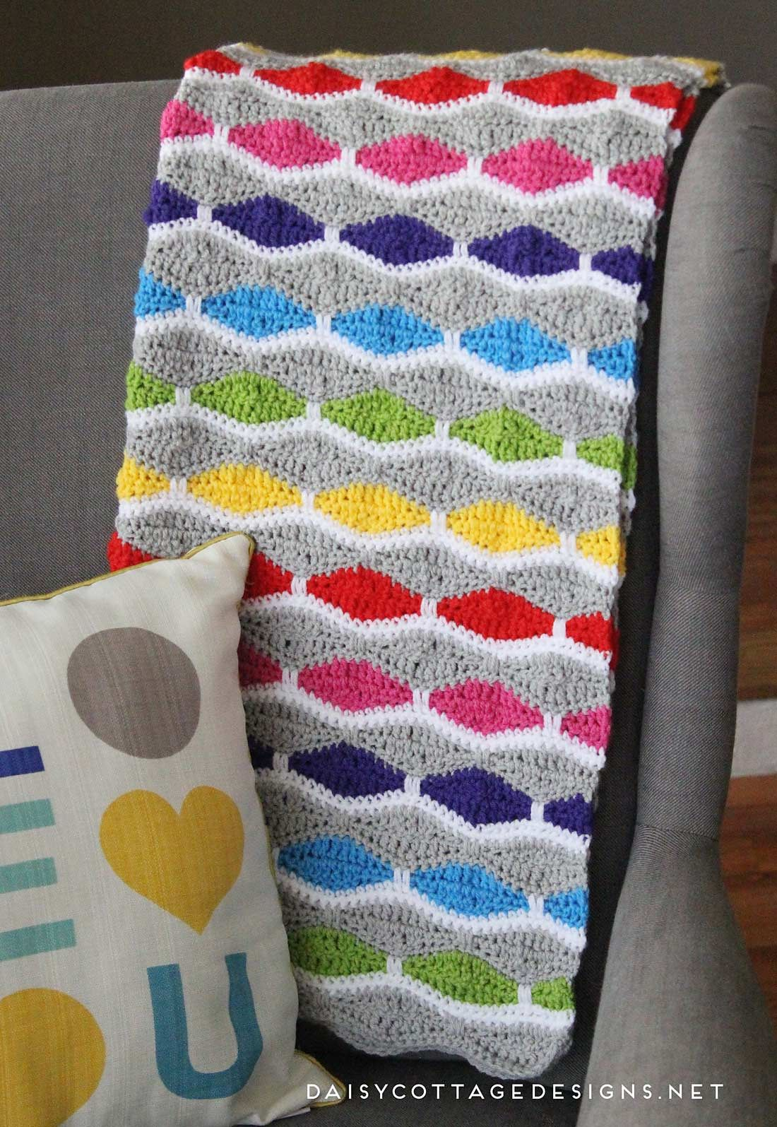 Bright And Fun Afghan By Lauren Brown - Free Crochet Pattern ...