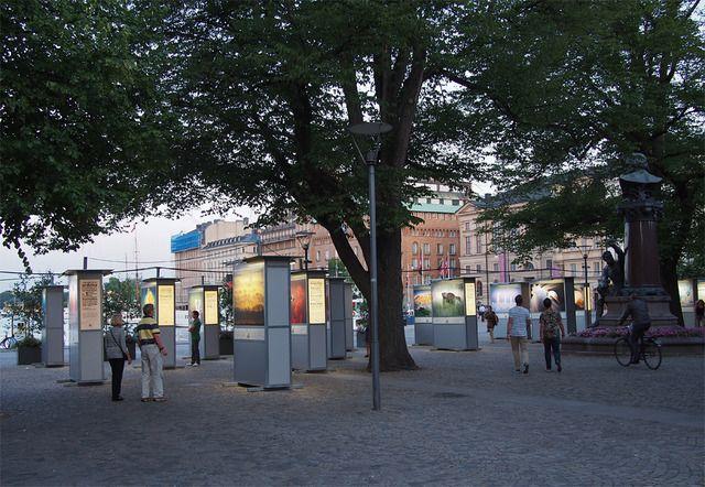 Naturbilder på Nybroplan, Stockholm - Fotosidan